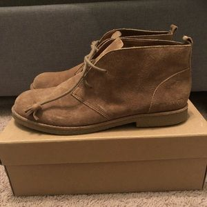 Lucky Brand suede flat booties